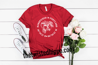 Handpicked in Portland - Strawberry - Portland, TN - Hometown Red Unisex Tee