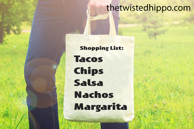 Taco Shopping List Reusable Tote Bag