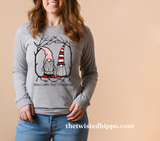 There's Gnome Place I'd Rather Be Long Sleeve Valentine's Tee
