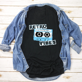 Retro Vibes - Mixed Tape - 80's -  unisex tee.