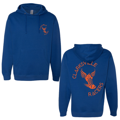 Clarksville Racers Adult Royal Blue Pull Over Hoodie