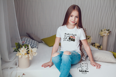 Monster Trucks Are Not Just For Boys Kid Youth White Tee