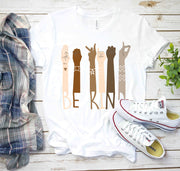 Be Kind Diversity Hands Tshirt White