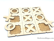 Wooden Tic-Tac-Toe Classic Game Board