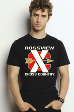 Load image into Gallery viewer, Rossview XC Cross Country black Tee