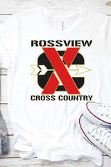 Rossview XC Cross Country white Tee