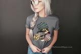 Hipster Sloth with Coffee and Phone Short Sleeve Unisex T-shirt