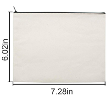Load image into Gallery viewer, Yesterday's Eyeliner White Canvas Makeup Organizer Cosmetic Bag
