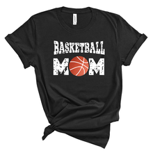 Load image into Gallery viewer, Basketball Mom Unisex Black Tee