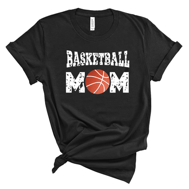 Basketball Mom Unisex Black Tee