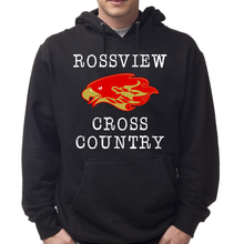 Load image into Gallery viewer, Black Rossview Cross Country Hawks Hoodie