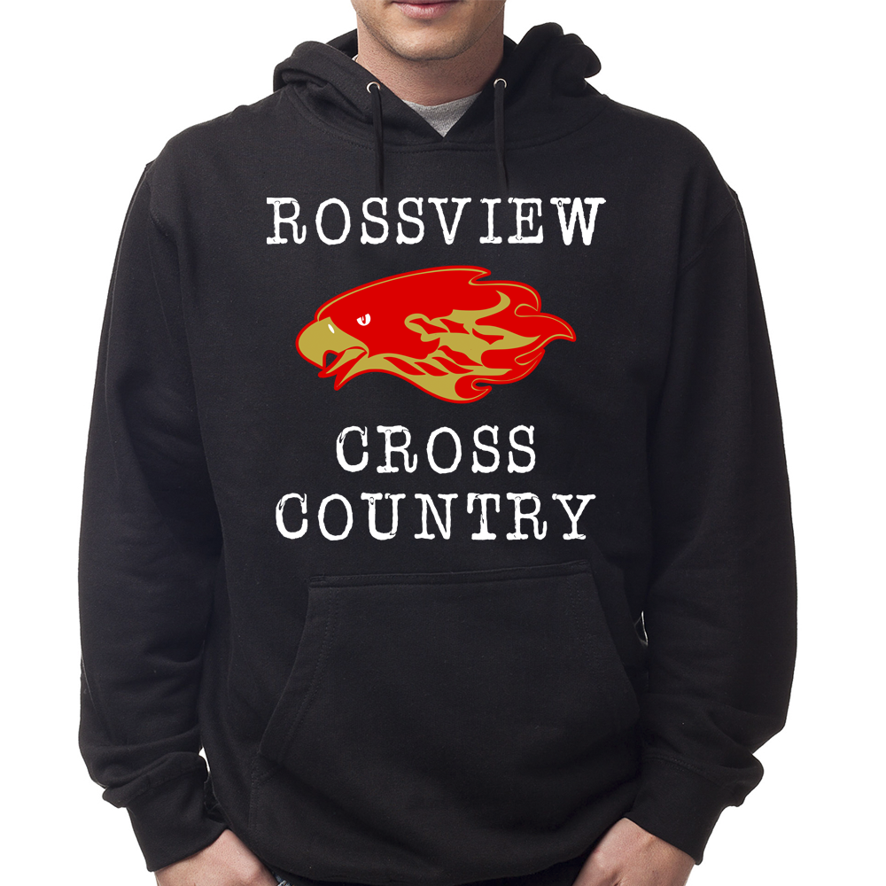 Black Rossview Cross Country Hawks Hoodie