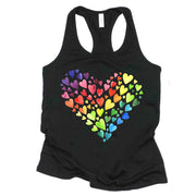 Beautiful Watercolored Rainbow to Show Your Pride Spirit in Racerback Tank