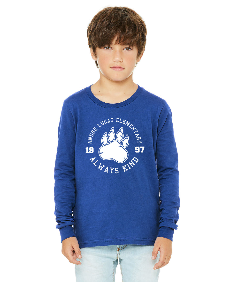 Youth - Long Sleeve Tees - Andre Lucas Elementary