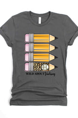 Wild About Teaching Custom Monogram - Short Sleeve