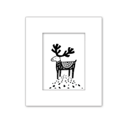 Woodland Reindeer Deer Nursery Kid Art