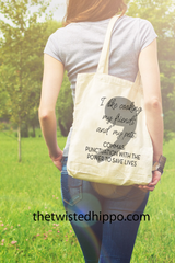 Punctuation with the Power to Save Lives-   English Teacher Appreciation Canvas Tote Bag