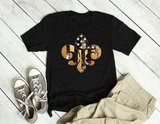Black & Gold Fleur De Lis Flag  Unisex Black Tee