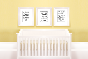 Hamilton 3 Piece Nursery Art Decor