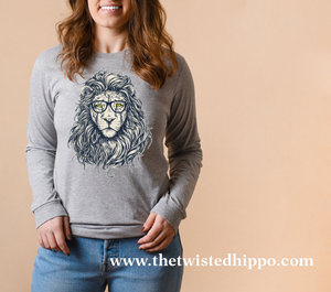 Hipster Lion - The King of the Jungle -  Long Sleeve T-shirt
