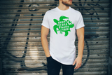 Keep the Sea Plastic Free Seaturtle White Unisex T-shirt