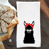 Llama with Bandana Dish/ Hand Towel Kitchen Housewarming Gift
