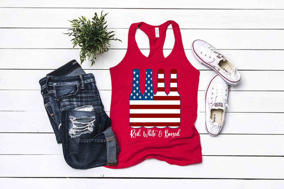 Red, White and Boozed summertime tanks . .