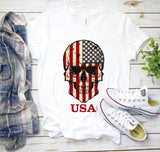 Red, White and Skull