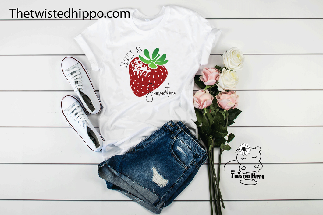Sweet as Summertime Strawberry Festival Unisex Tee