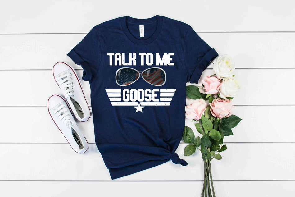 Talk to Me Goose navy Tshirt