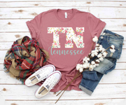 TN Tennessee Floral Tee