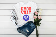 Load image into Gallery viewer, Vintage Nashville Tee Unisex White Tee
