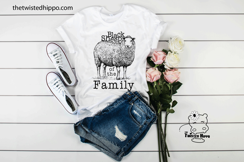 Black Sheep of the Family Funny Graphic Unisex Tee