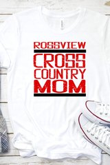 Rossview Cross Country Mom white Tee