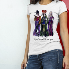 Load image into Gallery viewer, Hocus Pocus Sanderson Sisters Witch Halloween Unisex Tee