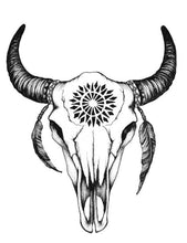 Load image into Gallery viewer, Buffalo Skull Panties