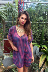 Sketch London Gold Lace Print Kaftan Top Dress Summer 2016 Beachwear Cover up