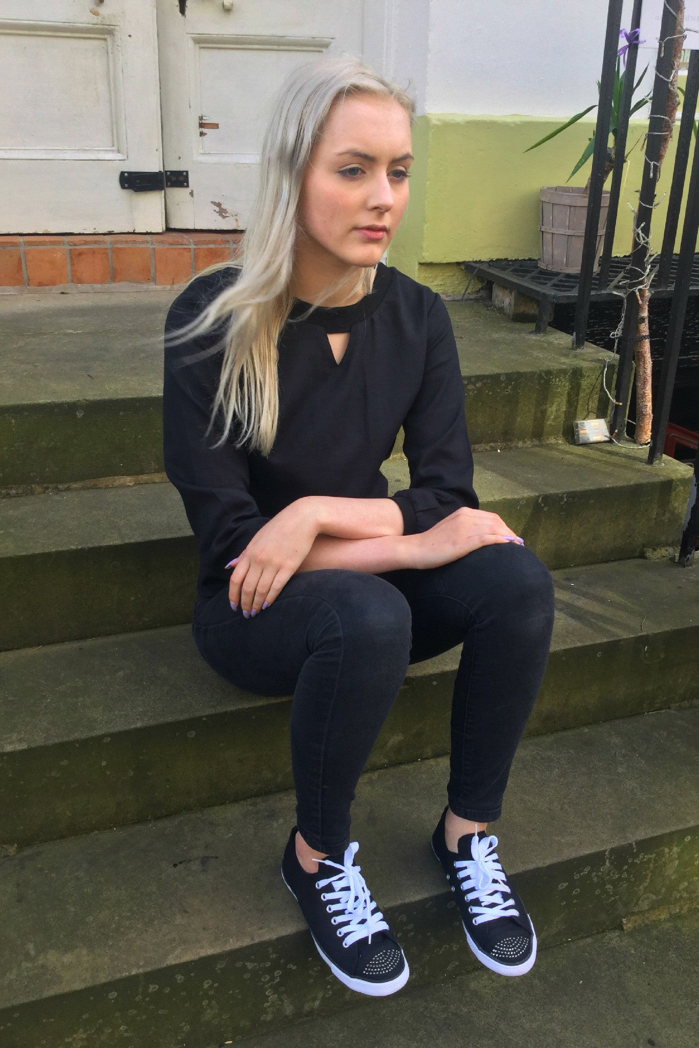 Sketch London Black Top Sweatshirt