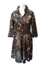 Sketch London snake print shirt dress