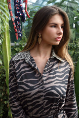 Sophia Shirt Dress, Zebra Cookies