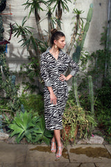 Sophia Shirt Dress, Zebra Cream