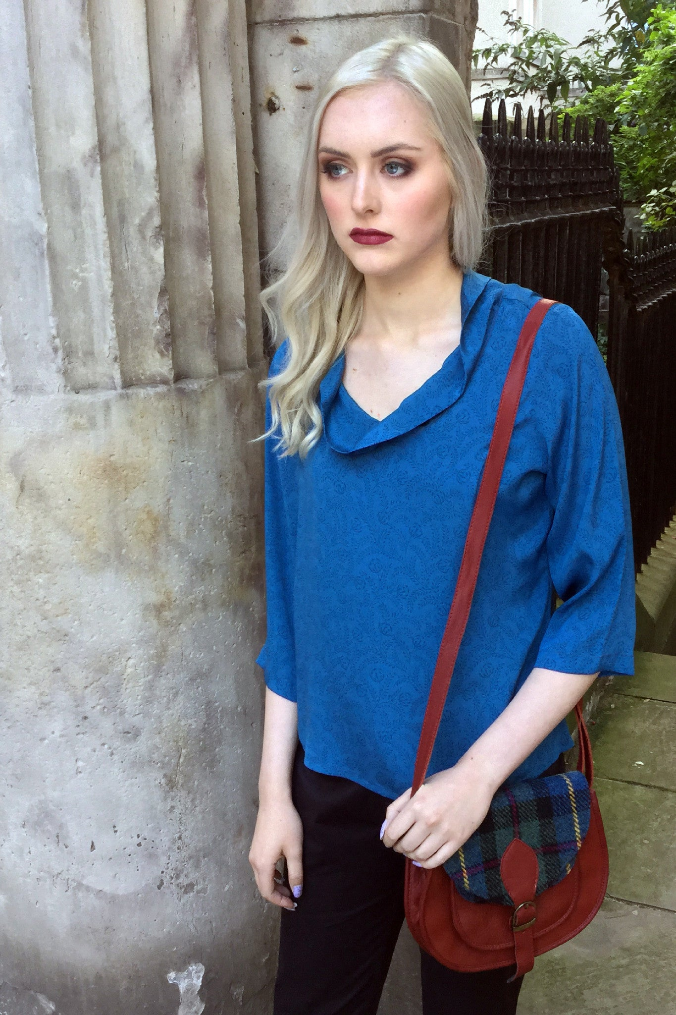 Sketch London Teal Blue Top Ethical Sustainable Fashion Women