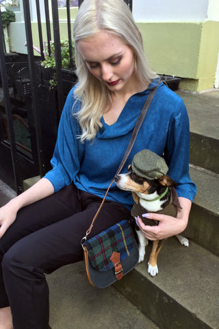 Harris Tweed & Leather Bag, Highlander