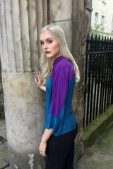 Sketch London Teal Print Over sized Shirt Ethical Fashion Women