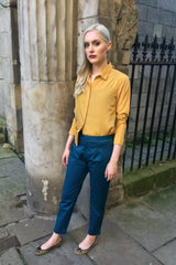 Sketch London Mustard Gold Shirt Ethical Fashion Women
