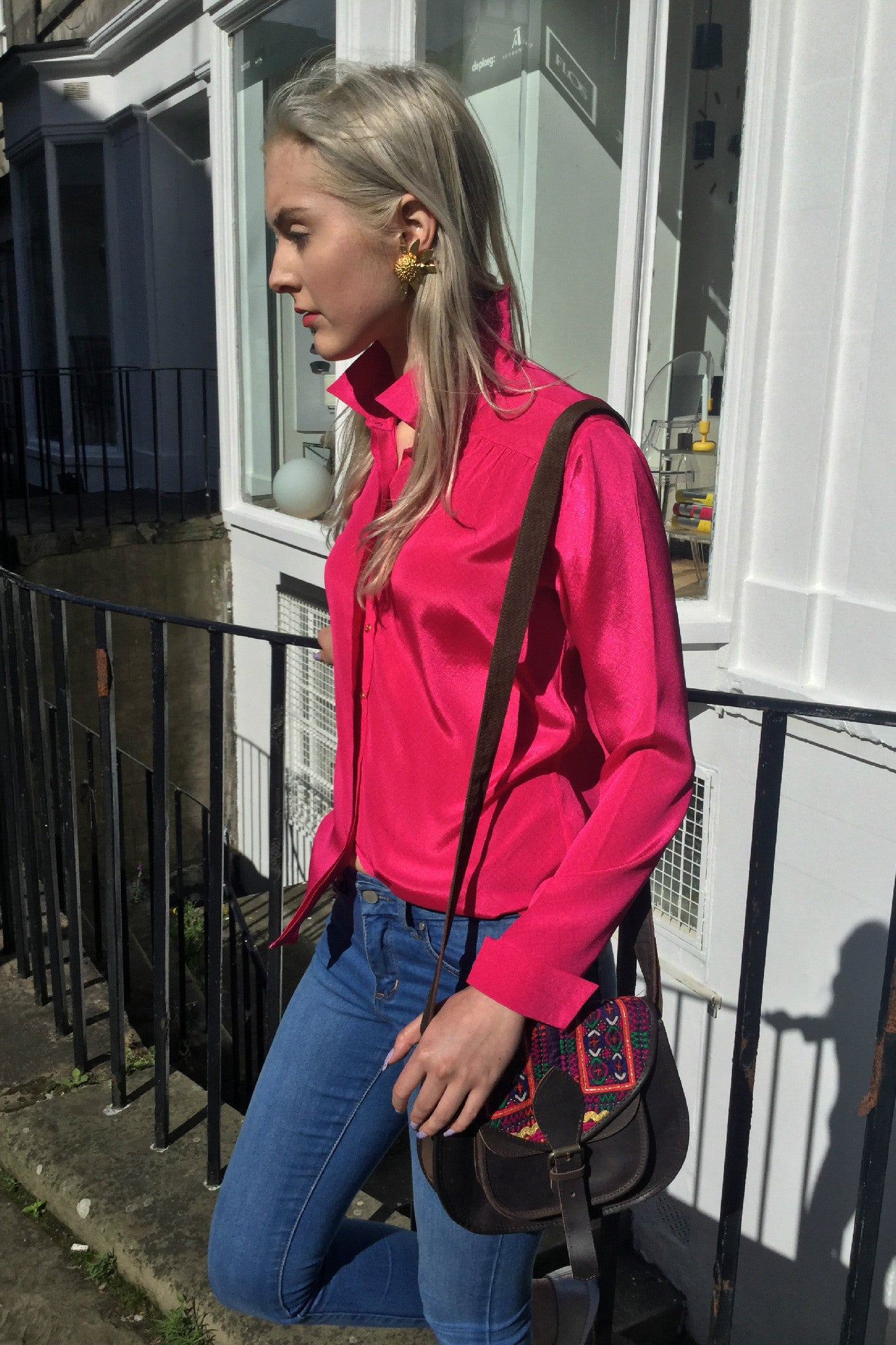 Sketch London Hot Pink Shirt Ethical Fashion Women