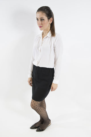 Sketch London White French Crepe full sleeve Shirt work office smart casual ethical sustainable women