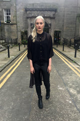 Sketch London Glamorous Asymmetric Black Shirt  Ethical Fashion Women