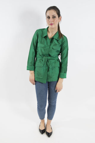 Gazelle Jacket, Emerald Green