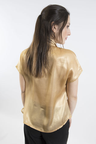 Taylor Vintage Collar Blouse, Gold